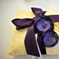 Ceremony, Flowers & Decor, yellow, purple, Ring, Pillow, Bearer, Inspiration board