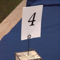 Reception, Flowers & Decor, Table, Number, Holder, Birch, Bark