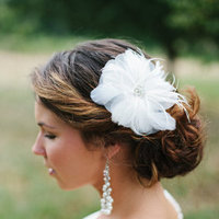 Beauty, Flowers & Decor, Feathers, Flower, Me, Organza, Fascinator, Feather, Fascinate
