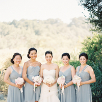Bridesmaids, Bridesmaids Dresses, Fashion, white, gray, Bouquets, Diana john, Diana j