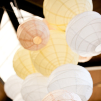 Paper, white, yellow, pink, Lantern, Ashley mark