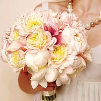 Flowers & Decor, yellow, pink, Flowers, Romantic, Country, Peony, Dahlia