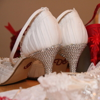 Shoes, Fashion, white, red
