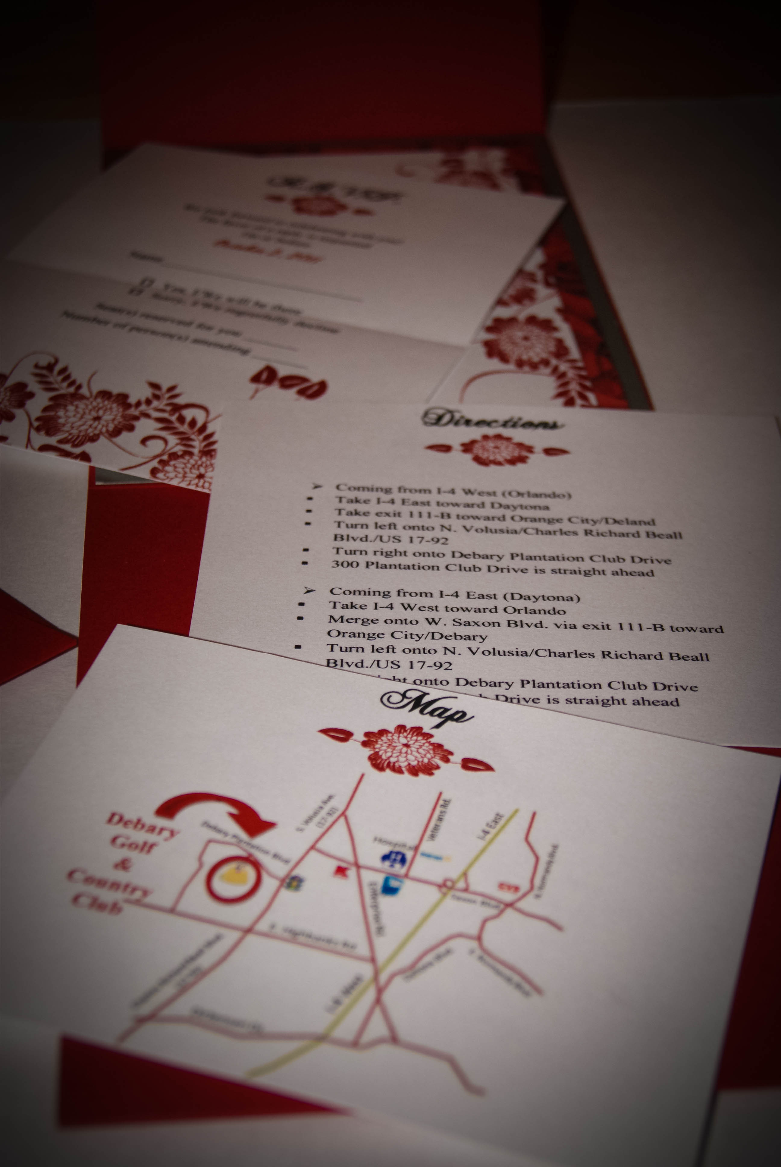 DIY, Stationery, red, Invitations, Map