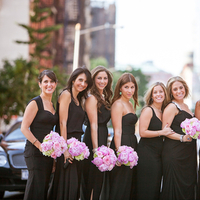 Flowers & Decor, Bridesmaids Dresses, Wedding Dresses, Fashion, pink, black, dress, Garden, Roses, Bouquet, Bridesmaid, Shera dan, Shera daniel