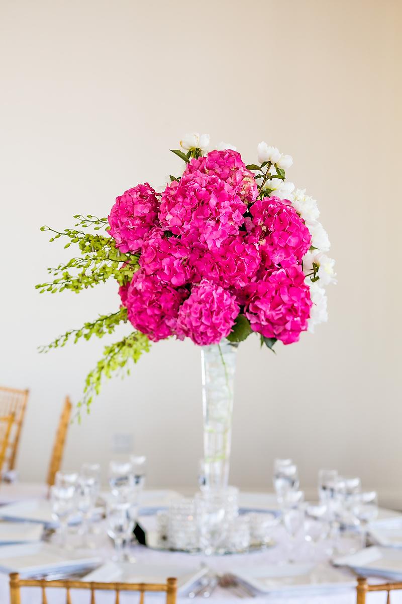 pink, Centerpiece, Hydrangeas, Hot, Shera dan, Shera daniel