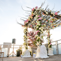 Ceremony, Flowers & Decor, Ceremony Flowers, Flowers, Chuppah, Rooftop, Shera dan, Shera daniel
