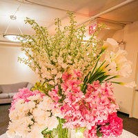 Reception, Flowers & Decor, white, pink, green, Centerpieces, Candles, Hydrangeas, Shera dan, Shera daniel