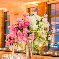 Reception, Flowers & Decor, white, pink, green, Centerpieces, Centerpiece, Cream, Brick, Shera dan, Shera daniel