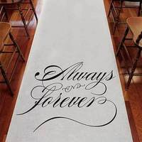 Ceremony, Flowers & Decor, white, Aisle, Runner