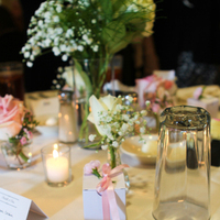 Reception, Flowers & Decor, Favors & Gifts, white, pink, green, Favors, Flowers