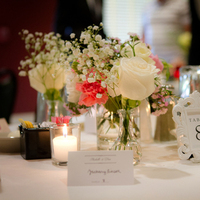 Reception, Flowers & Decor, white, pink, green, Flowers