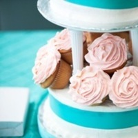 Cakes, pink, blue, cake