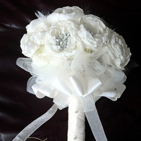 Flowers & Decor, Jewelry, white, ivory, Brooches, Bride Bouquets, Flowers, Bouquet, Brooch, Peony, Poenies