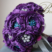 Flowers & Decor, Jewelry, purple, blue, Brooches, Bride Bouquets, Flowers, Bouquet, Fabric, Brooch