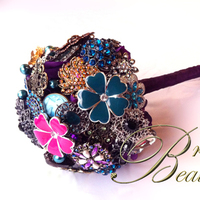 Flowers & Decor, Jewelry, pink, purple, blue, Brooches, Bride Bouquets, Vintage, Flowers, Vintage Wedding Flowers & Decor, Bouquet, Brooch, Inspiration board, Chic