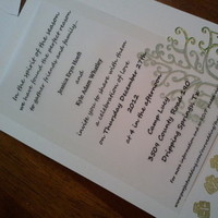 Stationery, green, gold, Invitations