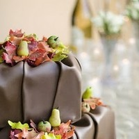 Reception, Flowers & Decor, Cakes, brown, cake