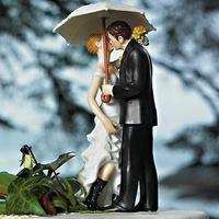 Cakes, cake, Bride, Groom, Umbrella, And, Topper, Rain, Boots