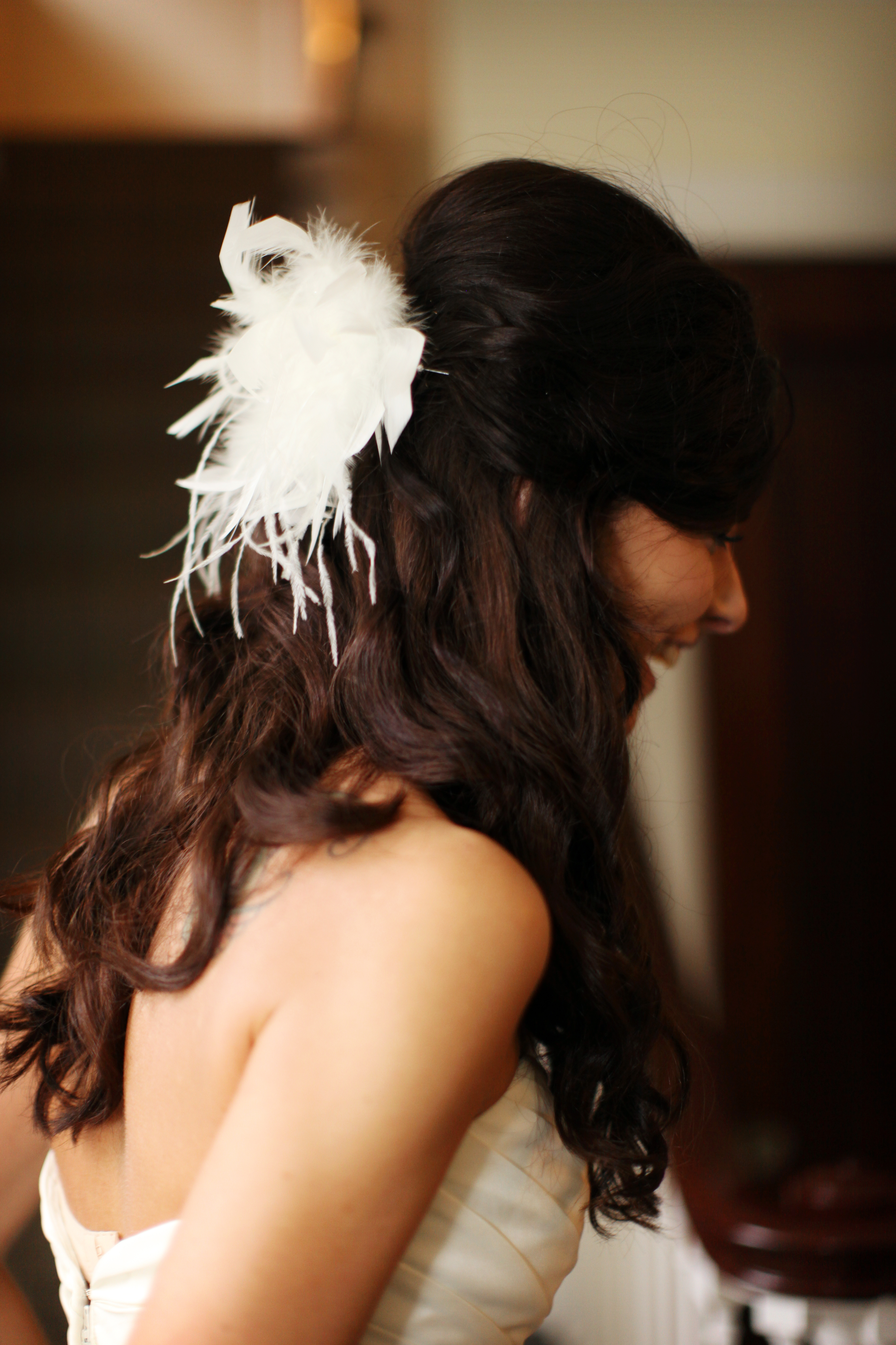 Beauty, Wavy Hair, Long Hair, Feathers, Hair, Long, Wavy, Up, Half, Brunette, Courtney sawyer