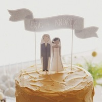 Cakes, Paper, yellow, cake, Cake Toppers, Wedding, Toppers, Frosting, Andrea eric