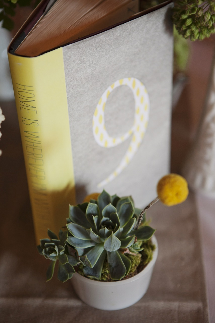 Reception, Flowers & Decor, Decor, yellow, gray, Table Numbers, Table, Book, Numbers, Billy, Balls, Andrea eric
