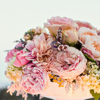 white, pink, Centerpieces, Candles, Peonies, Linens, Dahlia, Vases, Jeanne johnhan, Virburnums