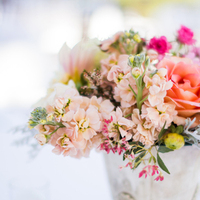 white, pink, Centerpieces, Roses, Peach, Jeanne johnhan