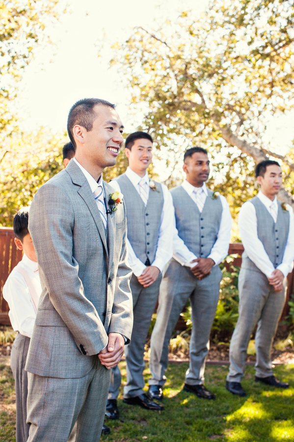 Ceremony, Flowers & Decor, Fashion, gray, Men's Formal Wear, Groomsmen, Outdoor, Groom, Tie, Express, Suit, Vests, Jeanne johnhan