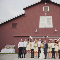 Reception, Flowers & Decor, yellow, red, Wedding, Party, Bridal, Barn, Andrea eric