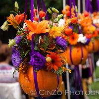 Flowers & Decor, white, orange, purple, Flowers