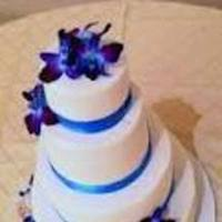 Reception, Flowers & Decor, Cakes, purple, blue, cake