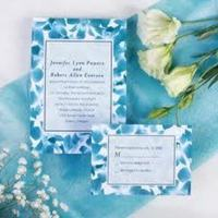 Stationery, purple, blue, Invitations