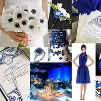 Ceremony, Reception, Flowers & Decor, blue, black, Inspiration board