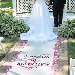 Ceremony, Flowers & Decor, white, pink, black