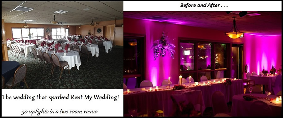 Reception, Flowers & Decor, Wedding, Before, After, And, Up, Inspiration board, Light, Uplights, Idea, Uplighting, Rent