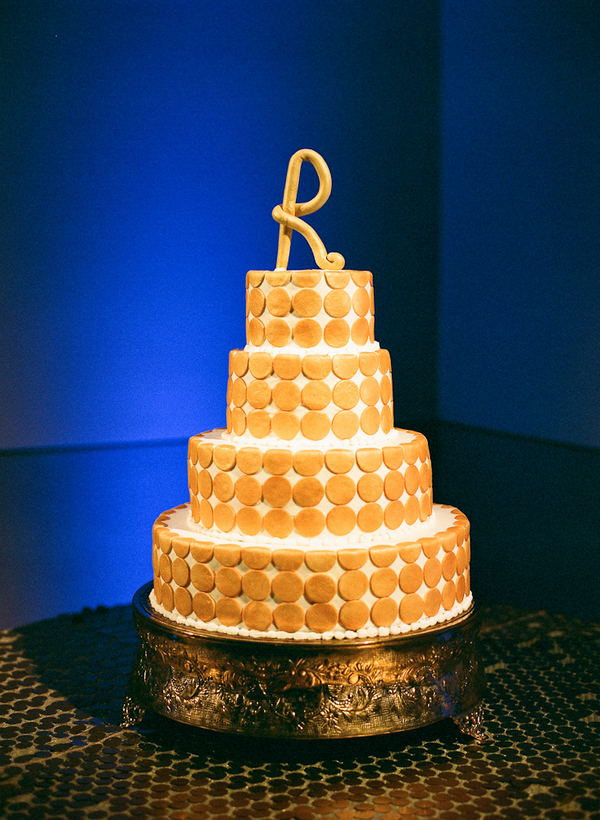 Cakes, gold, cake, Modern, Lighting, Modern Wedding Cakes, Polka, Dot, Indigo, Lauren paul