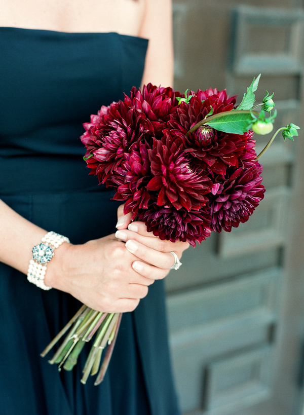 Bouquet, Bridesmaid, Crimson, Lauren paul