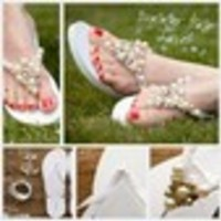DIY, Shoes, Fashion, white, Bridal, Flip, Flop