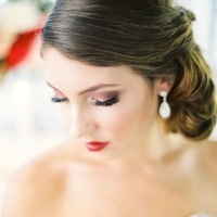 Beauty, Makeup, Chignon, Hair, Sweetheart, Drop, Low-do, Earring, Neckline, Love poems styled wedding