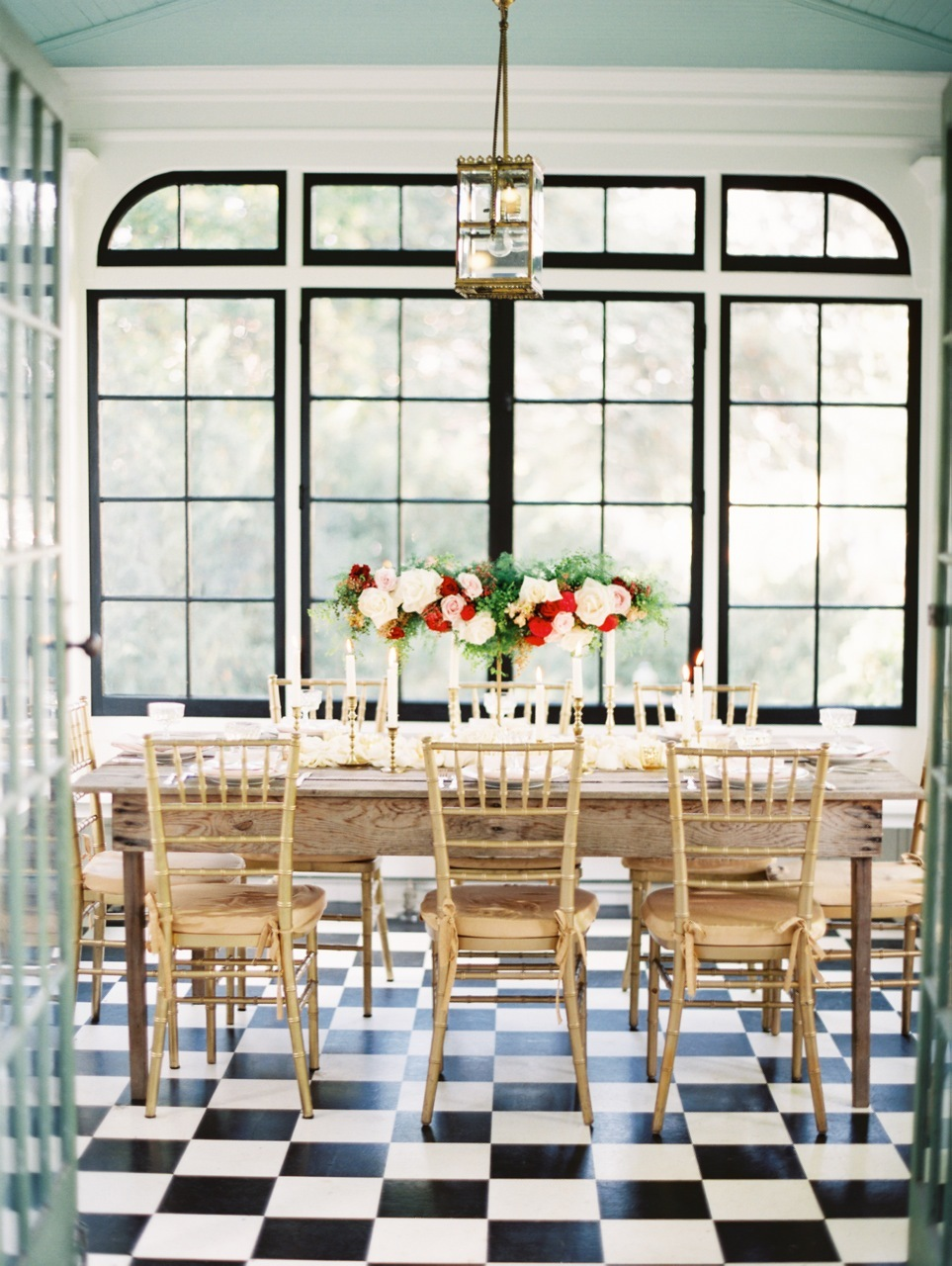 Reception, Flowers & Decor, red, gold, Chiavari, Romantic, Elegant, Chair, Checkered, Décor, Love poems styled wedding