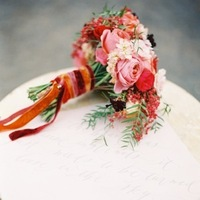 Calligraphy, red, Bouquet, Table, Ribbon, Velvet, Crimson, Marble, Love poems styled wedding