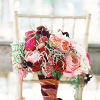 pink, red, Bouquet, Chiavari, Peach, Chair, Ribbon, Velvet, Midori, Crimson, Love poems styled wedding