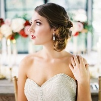Beauty, Makeup, Romantic, Hair, Elegant, Lazaro, Low-do, Sophisticated, Love poems styled wedding, 3214