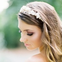 Beauty, Jewelry, Tiaras, Makeup, Wavy Hair, Long Hair, Bride, Hair, And, Long, Wavy, Tiara, Honey, Twigs, Love poems styled wedding