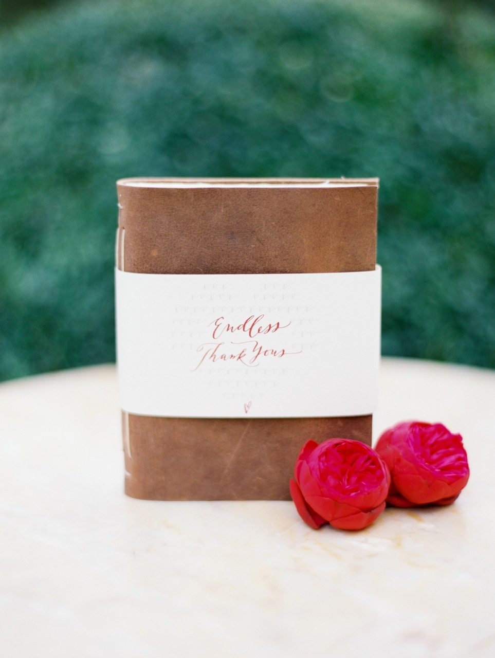Favors & Gifts, Calligraphy, red, favor, Leather, Journal, Love poems styled wedding