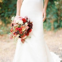 pink, red, Bouquet, Peach, Crimson, Love poems styled wedding