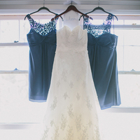 Bridesmaids, Bridesmaids Dresses, Fashion, white, Bride, Gown, Teal, Dresses, Watters, Wtoo, Katelyn brad