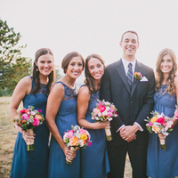 Bridesmaids, Bridesmaids Dresses, Fashion, Men's Formal Wear, Groom, Teal, Tux, Bouquets, Katelyn brad