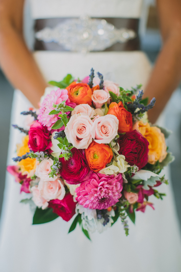 orange, pink, red, Bride, Roses, Bouquet, Belt, Katelyn brad